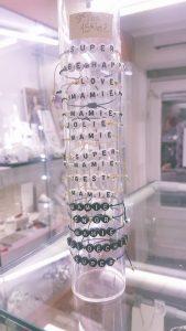 bracelets à mots