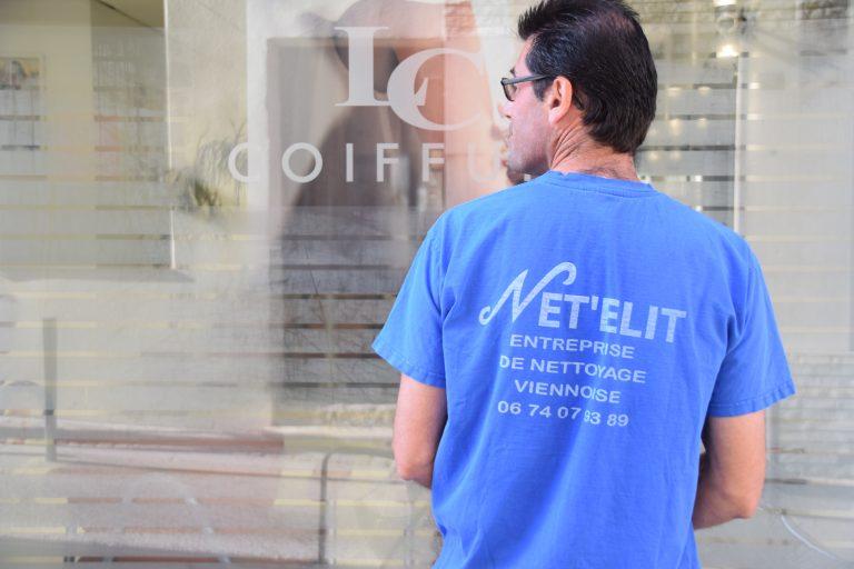 Net'Elit – NETTOYAGE  Bureaux, cabinets, sociétés commerces et copropriétés Nettoyage des vitrines de commerces