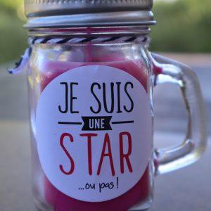Bougie à message – je suis une star ou pas ! senteur vanille des îles