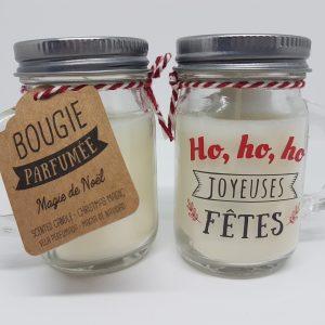 Bougie à message – ho ho ho Joyeuses fêtes – parfumée Magie de Noël